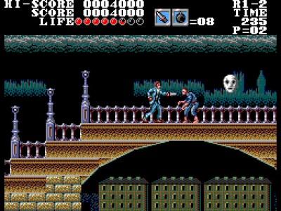 Master of Darkness på Sega Master System.