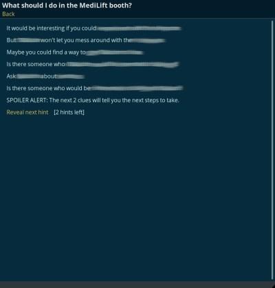 Spillets «recap»-funksjon. Teksten er leselig i spillet, altså.