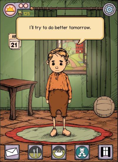 Du velger om du vil spille med Karin eller Klaus i starten av spillet.