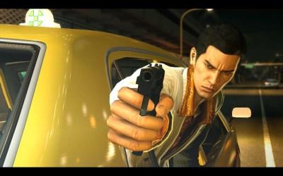 Yakuza 0 med seriens tradisjonelle hovedperson (i en yngre utgave).