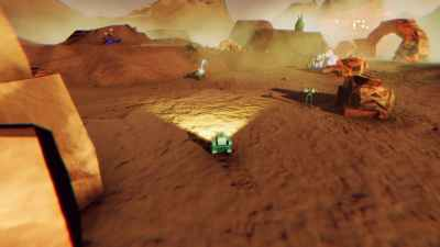 Planetutforsking i en prototypeversjon av Starflight 3.