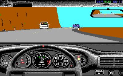 PC-versjonen. Den har 16-fargers EGA-grafikk og pipelyder, samt litt færre ulike baneobjekter enn Amiga-versjonen. Veiene er også litt annerledes designet, og politiet er i praksis etter deg fra første sekund.