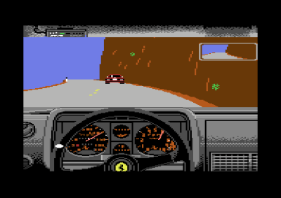 Commodore 64-versjonen av Test Drive.