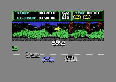 På Commodore 64 kjører du etter hvert ut av byen.