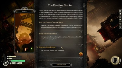 Som Sunless Sea har også dette spillet teksteventyr-elementer.