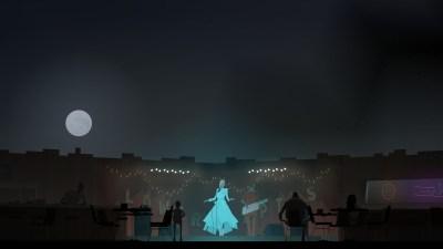 Konsert langs veien.