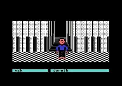 Et eksempel på spillets lekne natur – her kan du spille piano på veggen, og lyden avhenger av hvilken tangent du dytter.