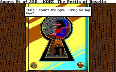 En ekte sekvens fra spillet.
