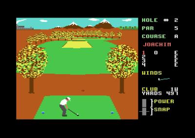 Executive Leaderboard. Høyt gress er brunt i dette spillet, kanskje siden det er høst.