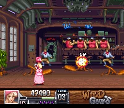 Wild Guns. Bildene er fra Mobygames.