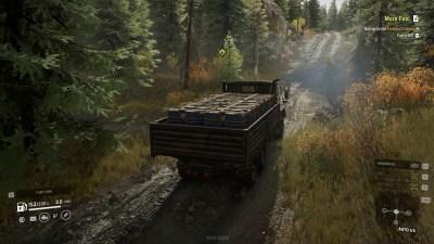 Full fart på skogsveien.