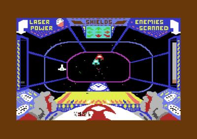 Førstepersons romkamp i Star Trader.