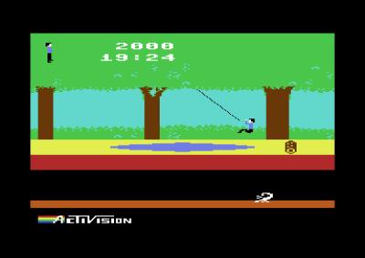 Her er vi på Commodore 64.