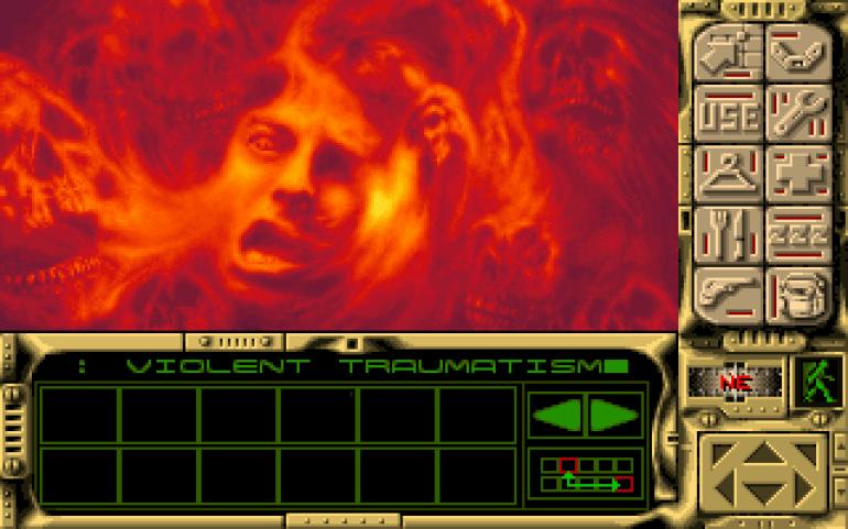 Spillets «game over»-skjerm er av den utrivelige sorten.
