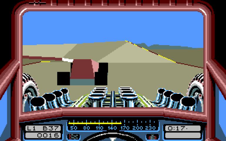 Stunt Car Racer. Enkel grafikk, veldig spillbart.