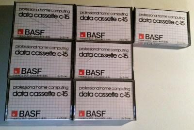 De aktuelle kassettene. Det er noen flere nummererte kassetter der de kom fra, så det kan være serien fortsetter når de er «brukt opp».