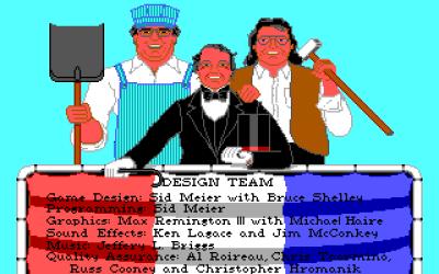 Folkene bak Sid Meier's Railroad Tycoon, med Meier i spissen.