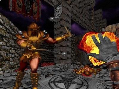 Witchaven II. Figurene er tegnet opp i 2D.