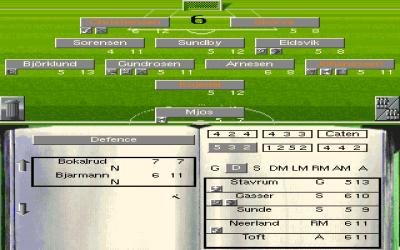 Det norske landslaget i On the Ball: World Cup Edition. Hm. Heldigvis følger et redigeringsverktøy med i pakka.