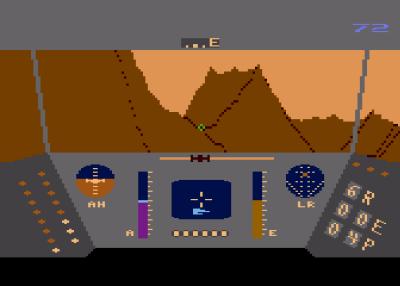 Rescue on Fractalus på Atari 8-bit. Bilde: Mobygames.