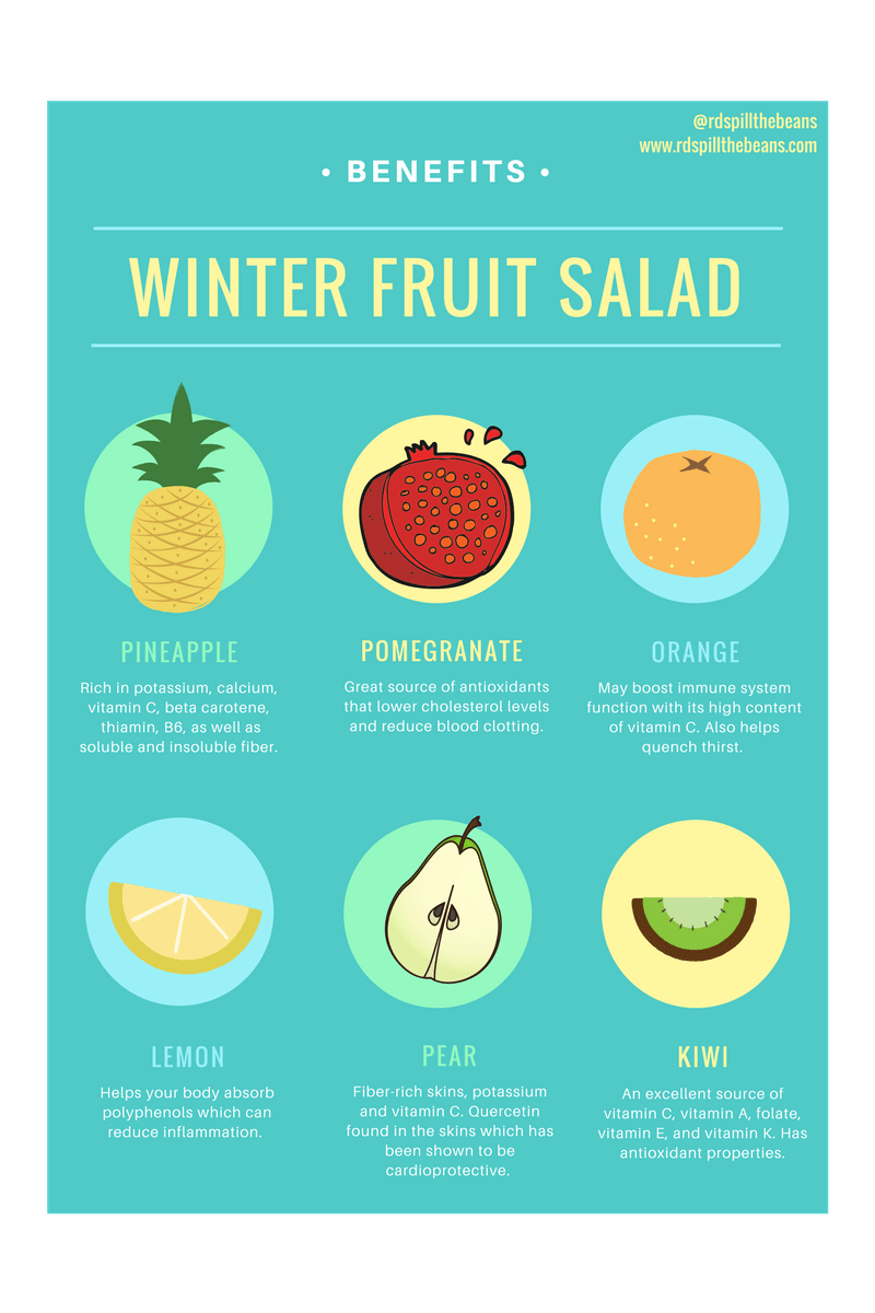 Winter Fruit Salad Promo Sign