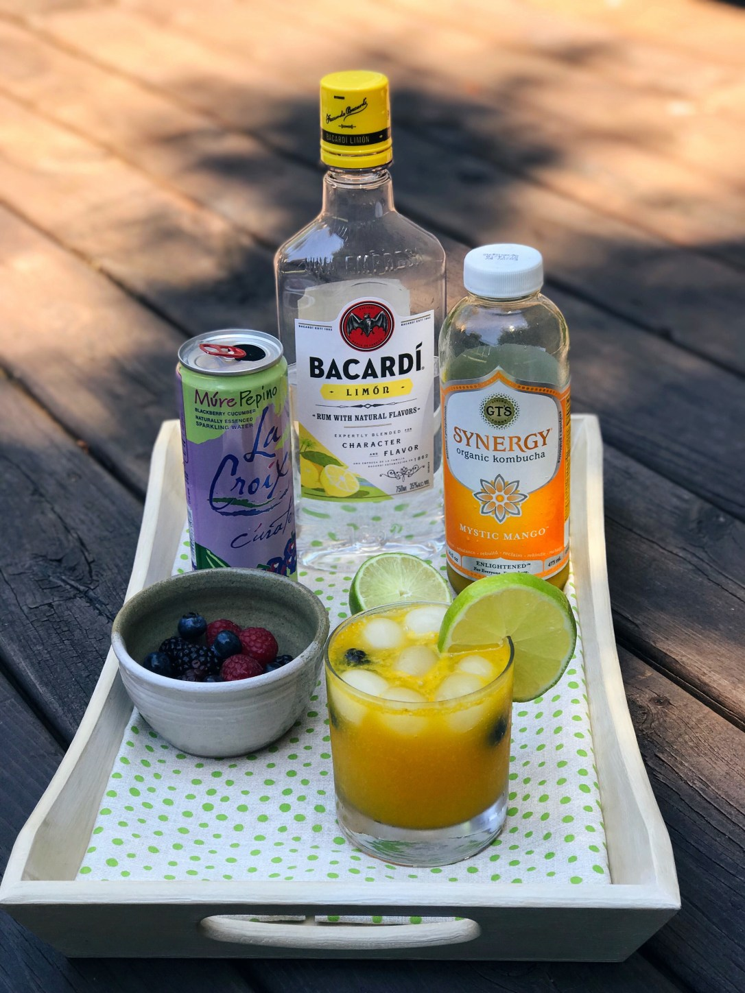 summer mocktail to summer cocktail