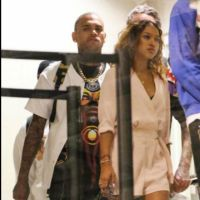 Bold Fan Attempts To Kiss Chris Brown In Front Of Karrueche