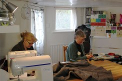 Ladies busy working away in the studio!