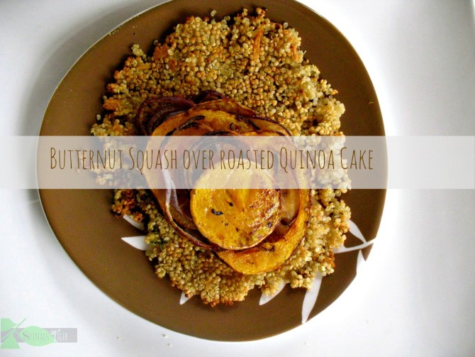 Roasted Quinoa Butternut Squash Stacks by Angela Roberts