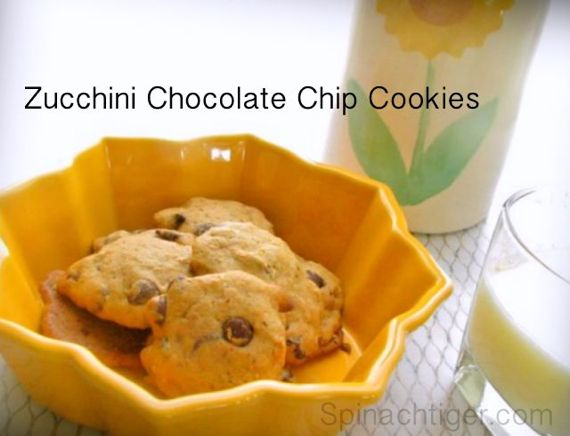 Zucchini chocolate chip cookies by Spinach Tiger