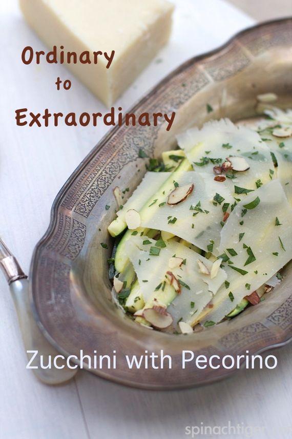 Zucchini with Pecorino