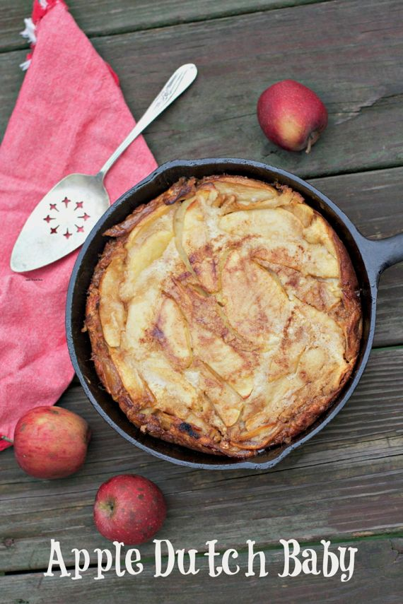 best apple desserts: Apple dutch baby from Spinach Tiger