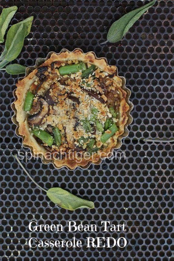 Green Bean Mushroom Onion Tart by angela roberts