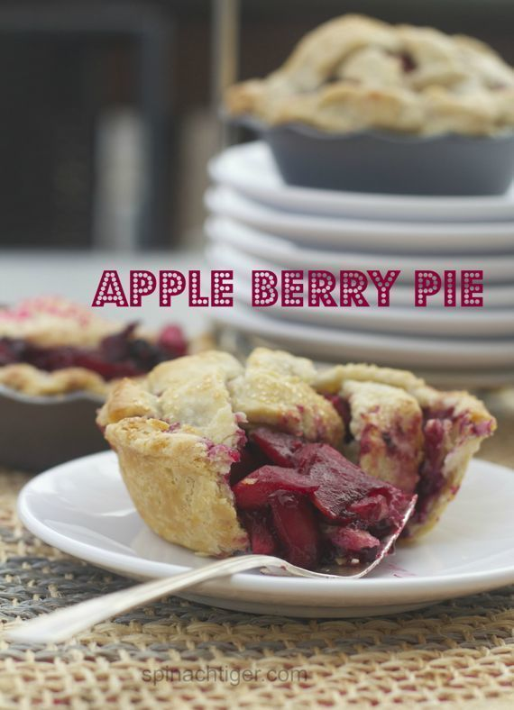 Apple Berry Pie by Angela Roberts @spinachtiger