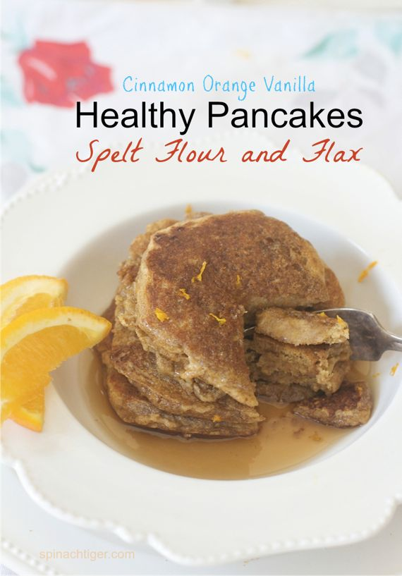 Healthy Pancakes with Spelt & Flax from Spinach TIger