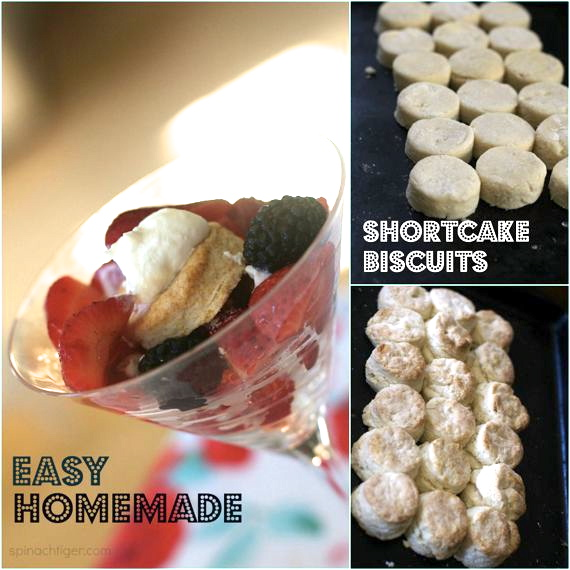 How to Make homemade shortcake biscuits by Spinach Tiger