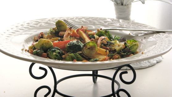 Brussels Sprouts with Apples and Cashews
