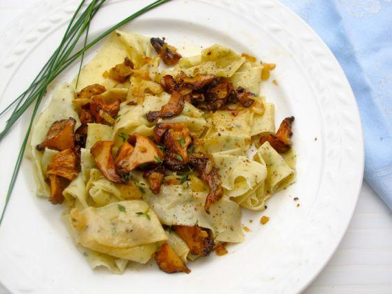 Tarragon Pasta, Chanterelle Mushrooms by Angela Roberts