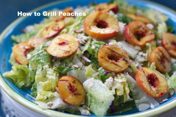 Grilled Peach Salad with Blue Cheese and Toasted Almonds