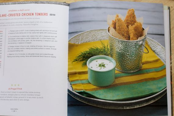 Corn Flake Crusted Baked Chicken Tenders from Breakfast for Dinner by Angela Roberts