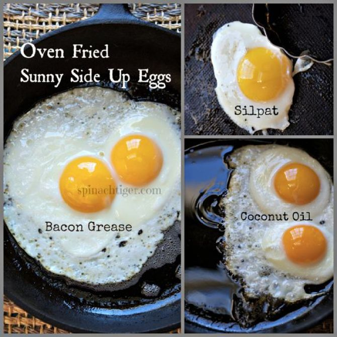 Oven Fried Sunny Side Up Eggs and Oven Fried Bacon by Angela Roberts