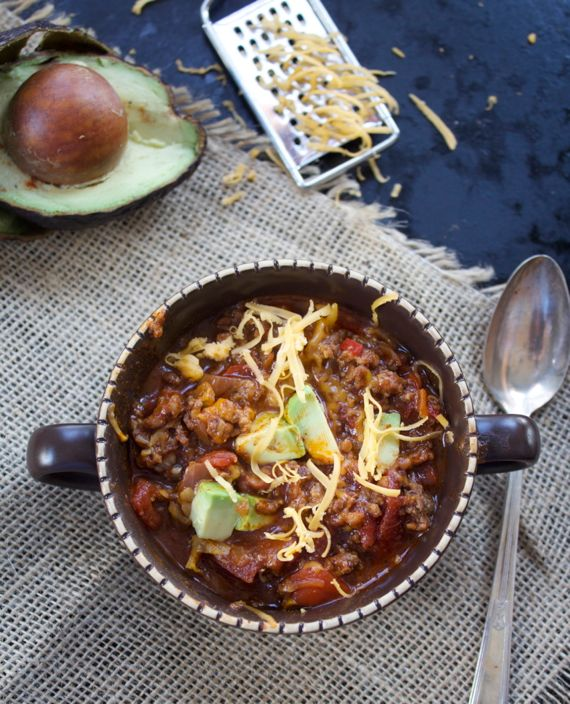 No Beans Chili with Ground Beef and Sausage