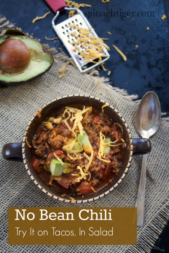 Paleo Friendly No Beans Chili by Angela Roberts