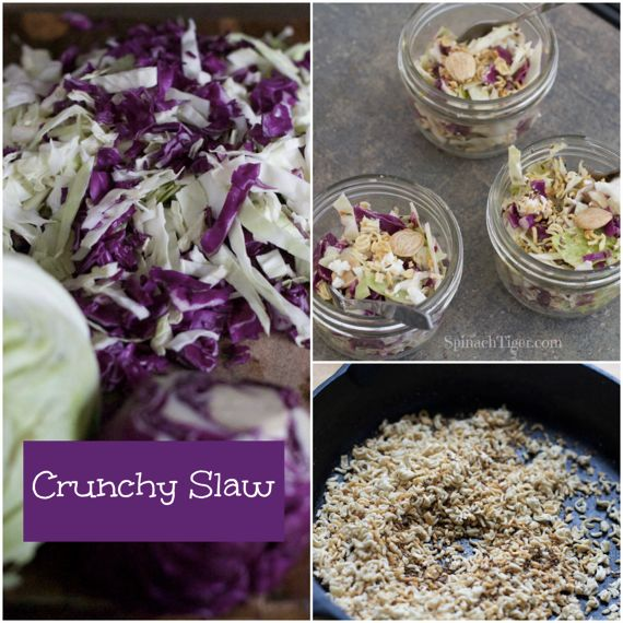 Crunchy cabbage salad with Marcona Almonds, Caraway Vinaigrette from Spinach Tiger