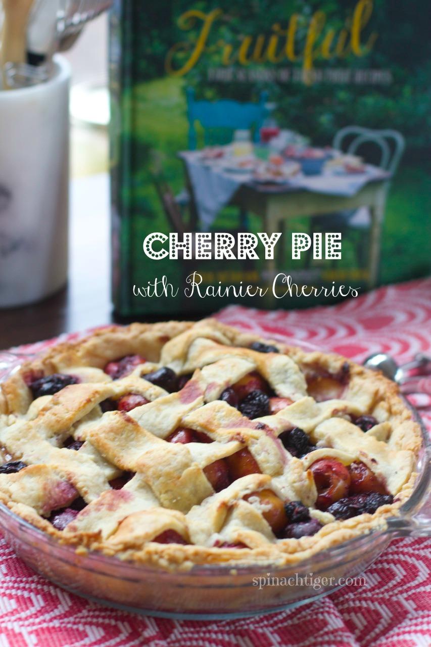 Rainier Cherry Pie with Lattice Top by Angela Roberts