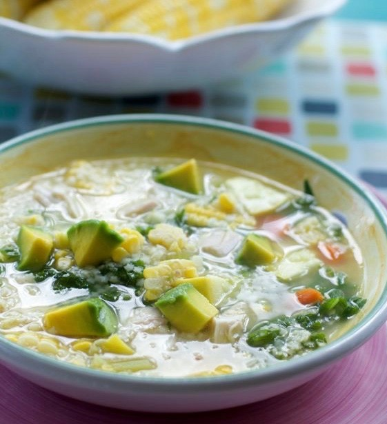 Summer Chicken Soup by Spinach Tiger
