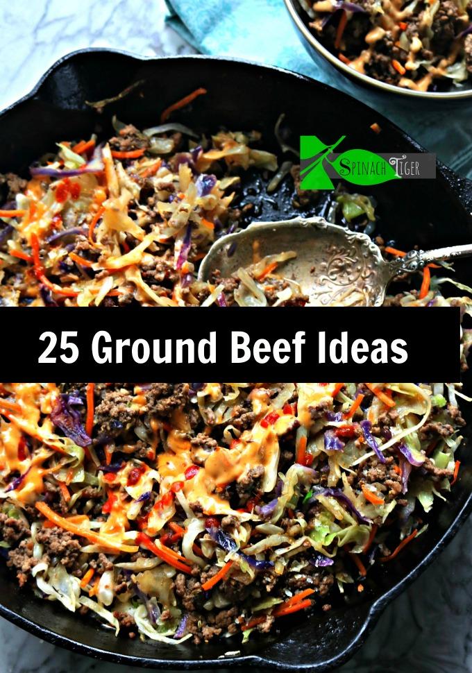 25 Ground Beef Ideas featuring stuffed peppers, ground beef stir fries, chili, taco meat, Joe's Special, Shepherd's Pie. #groundbeefideas #groundbeef via @angelaroberts