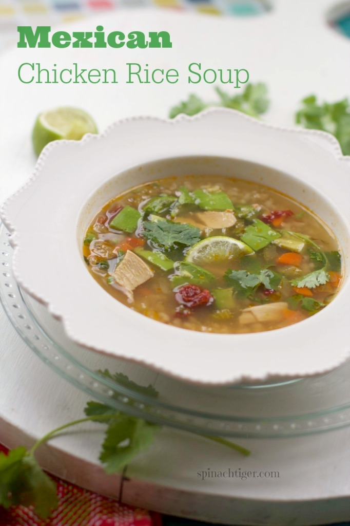 Mexican Chicken Rice Soup by Angela Roberts