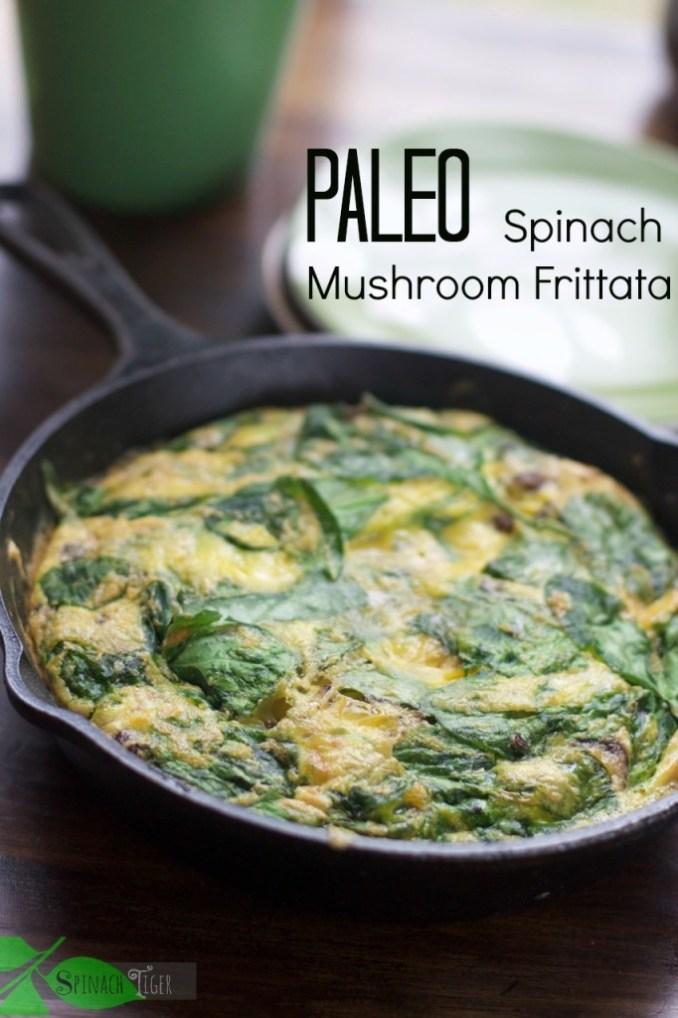 Spinach Frittata Recipe, Paleo Friendly - Spinach Tiger