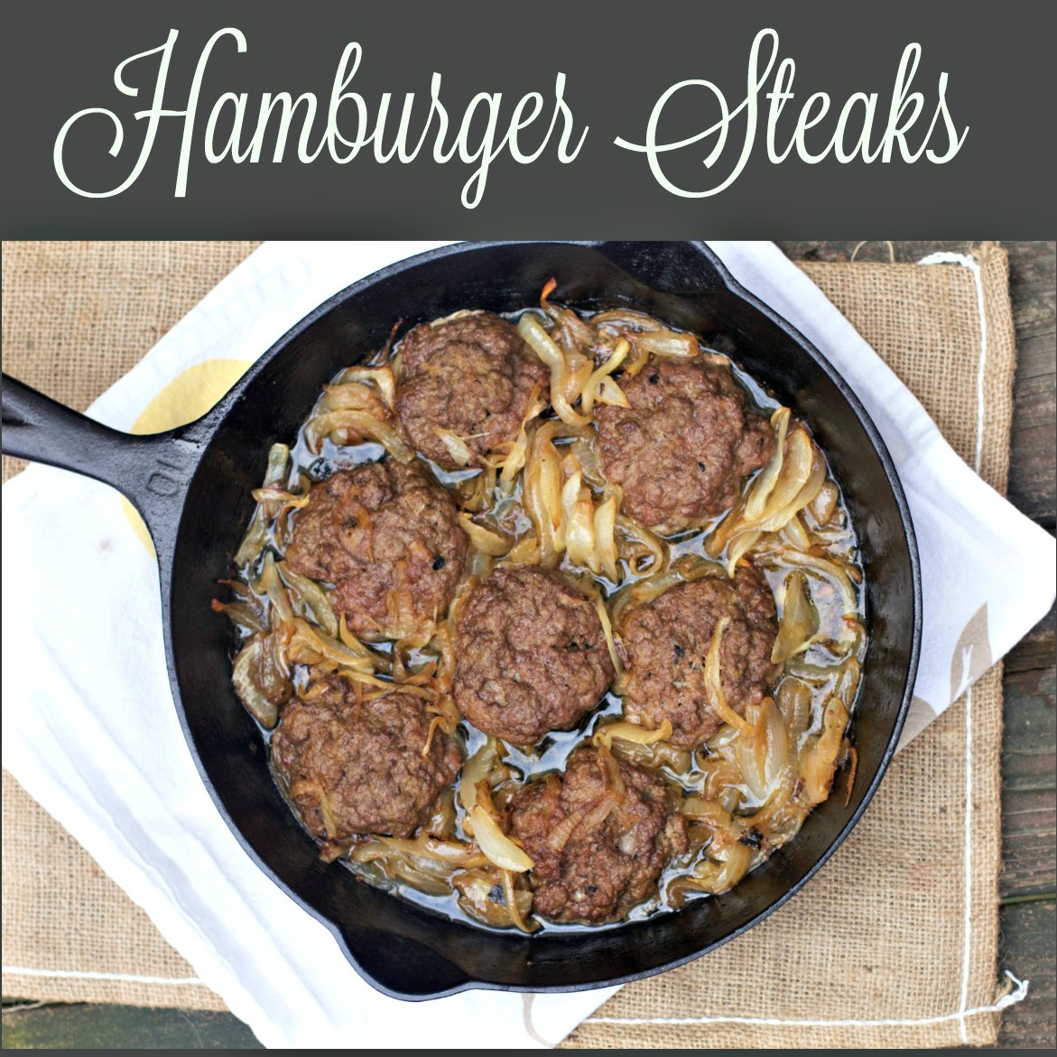 Easy Hamburger Steak Recipes from Spinach TIger